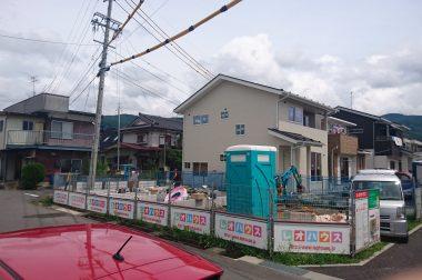 下諏訪町西四王 建売住宅 来週上棟予定です。
