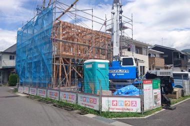 下諏訪町西四王 建売住宅 構造が見えてきました!