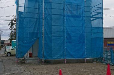 下諏訪町四王 建売住宅 完成が近づいてまいりました。