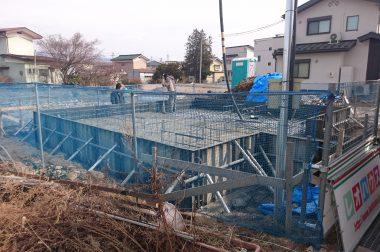 岡谷市若宮&岡谷市長地梨久保 建売住宅 基礎工事が始まりました。