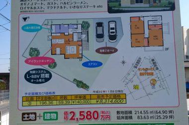 諏訪市中洲建売住宅 現地看板が設置されました。