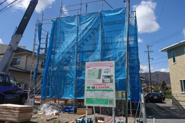 諏訪市中洲 建売住宅 サンライフハウス中洲Ⅱ 上棟開始です!